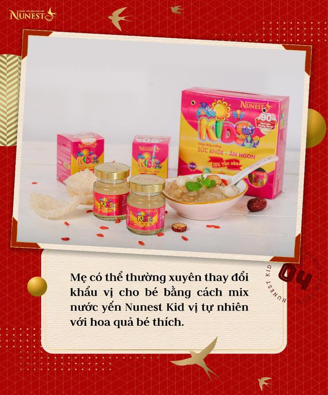 Nước yến Nunest Kid vị hoa quả thơm ngon, bổ sung bộ 3 dưỡng chất vàng giúp trẻ cao lớn, tăng sức đề kháng